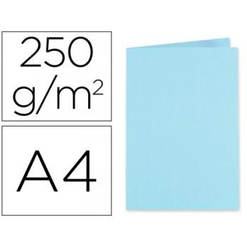 Classificador A4 Sem Ferragem 250Gr Cartolina Azul Claro