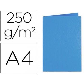 Classificador A4 Sem Ferragem 250Gr Cartolina Azul Escuro