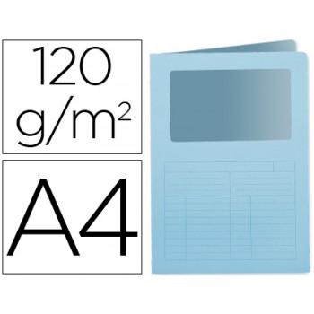 Classificador A4 Sem Ferragem 120grs Com Janela Cartolina Azul