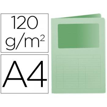 Classificador A4 Sem Ferragem 120grs Com Janela Cartolina Verde