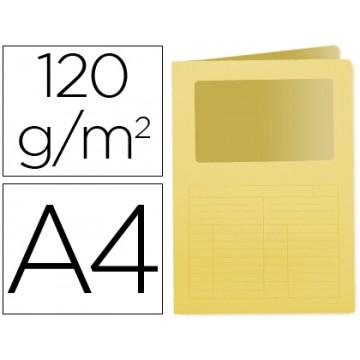 Classificador A4 Sem Ferragem 120grs Com Janela Cartolina Amarelo