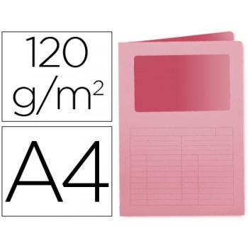 Classificador A4 Sem Ferragem 120grs Com Janela Cartolina Rosa