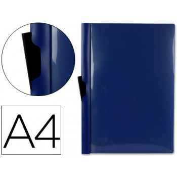 Classificador A4 clip Lateral Capa Transparente Contra Capa Opaca Azul