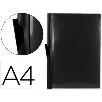 Classificador A4 clip Lateral Transparente 60 Folhas Preto
