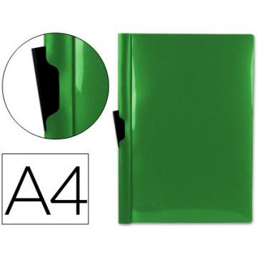 Classificador A4 clip Lateral Capa Transparente Contra Capa Opaca Verde