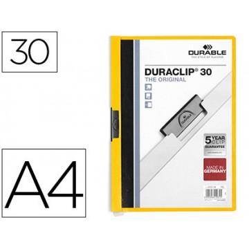Classificador A4 clip Lateral 30 Folhas Durable Amarelo
