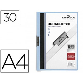 Classificador A4 clip Lateral 30 Folhas Durable Azul