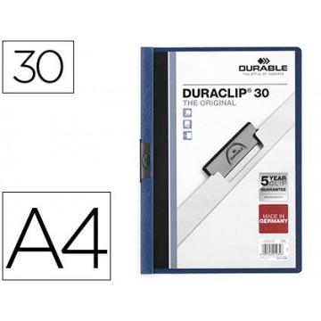 Classificador A4 clip Lateral 30 Folhas Durable Azul Escuro
