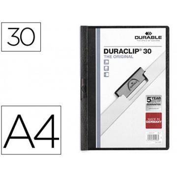 Classificador A4 clip Lateral 30 Folhas Durable Preto