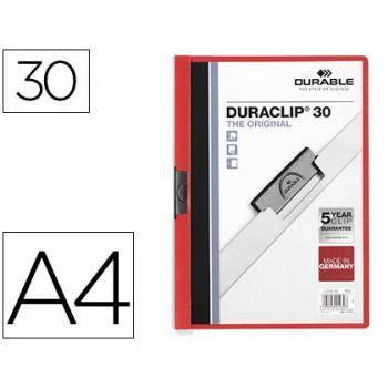 Classificador A4 clip Lateral 30 Folhas Durable Vermelho