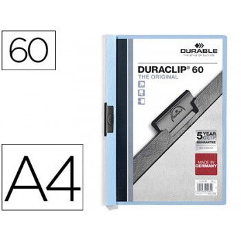 Classificador A4 clip Lateral 60 Folhas Durable Azul
