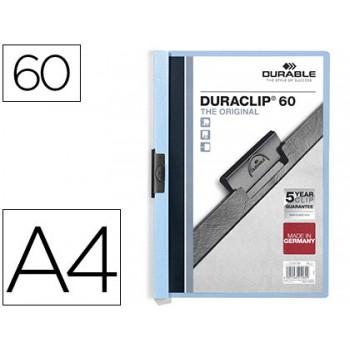 Classificador A4 clip Lateral 60 Folhas Durable Azul