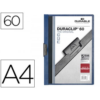 Classificador A4 clip Lateral 60 Folhas Durable Azul Escuro