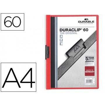 Classificador A4 clip Lateral 60 Folhas Durable Vermelho