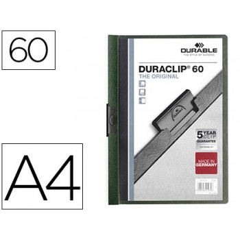Classificador A4 clip Lateral 60 Folhas Durable Verde Escuro