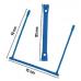 Encadernador Plástico E-Clips Azul caixa de 100 unidades