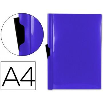 Classificador A4 clip Lateral Transparente 60 Folhas Azul