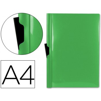 Classificador A4 clip Lateral Transparente 60 Folhas Verde