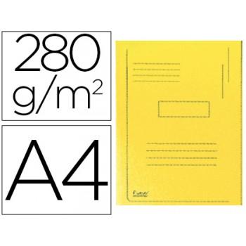 Classificador A4 Sem Ferragem 280Gr Cartolina Amarela 2 Abas