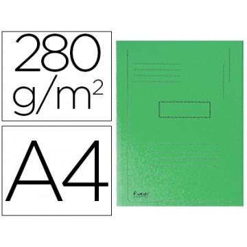 Classificador A4 Sem Ferragem 280Gr Cartolina Verde 2 Abas