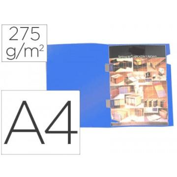 Classificador A4 com Cobre Agrafes 275grs Cartão Plastificado Azul 25 Unidades