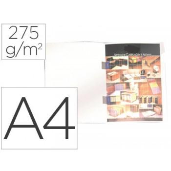 Classificador A4 com Cobre Agrafes 275grs Cartão Plastificado Branco 25 Unidades