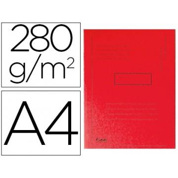 Classificador A4 Sem Ferragem 280Gr Cartolina Vermelho 2 Abas