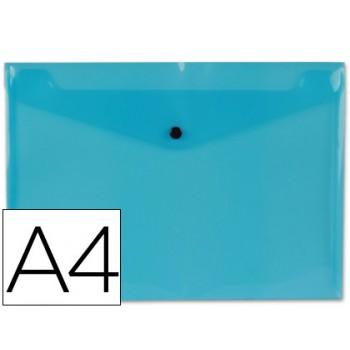 Envelope Plástico A4 com Mola Azul