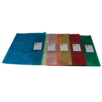 Envelope Plástico A4 Translucido com Visor Azul