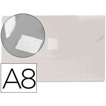 Envelope Plástico A8 com Velcro Transparente 12 Unidades