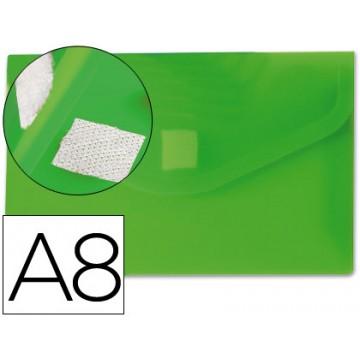 Envelope Plástico A8 com Velcro Verde