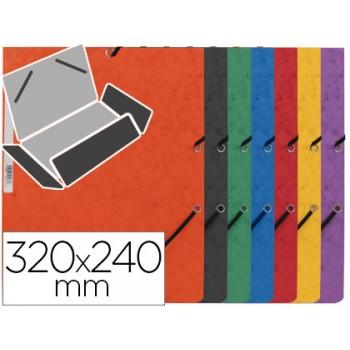 Capa A4 Com Elásticos Cartão e Abas Cores Sortidas Q-Connect