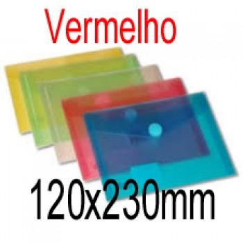 Envelope Plástico 125mmx225mm com Mola Vermelho