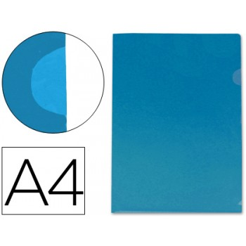 Capa dossier A4 Com Canto Azul Opaco Fama
