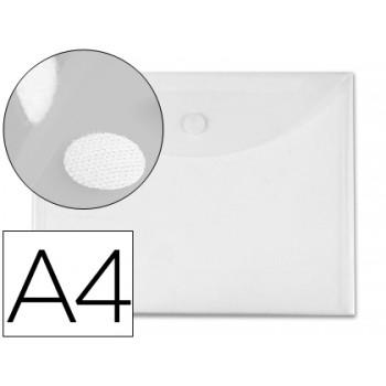 Envelope Plástico A4 Com Velcro Transparente