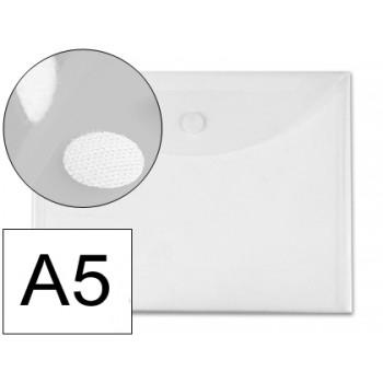 Envelope Plástico A5 Com Velcro Transparente