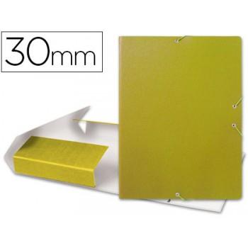 Caixa Arquivo Processos Folio Com Elásticos 3cm Amarela