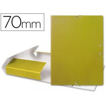 Caixa Arquivo Processos Folio Com Elásticos 7cm Amarela