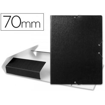 Caixa Arquivo Processos Folio Com Elásticos 7cm Preta