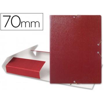 Caixa Arquivo Processos Folio Com Elásticos 7cm Vermelha
