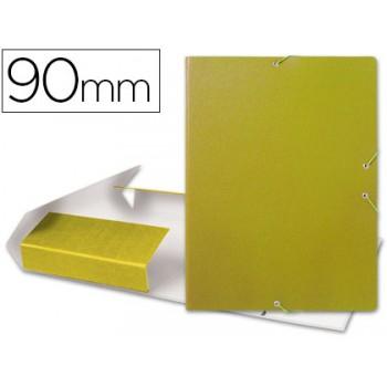Caixa Arquivo Processos Folio Com Elásticos 9cm Amarela
