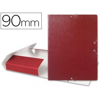 Caixa Arquivo Processos Folio Com Elásticos 9cm Vermelha