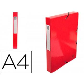 Pasta Projetos Cartão Lustrado Plastificado A4 lombada 40mm Vermelha Exacompta