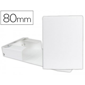 Caixa Arquivo Processos Cromolux  A4 Branca 8cm Com Mola