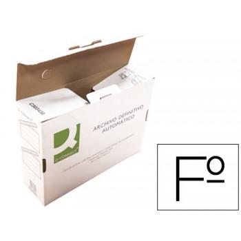 Caixa para Arquivo Definitivo Cartão Reciclado 255x360x100mm Q-Connect