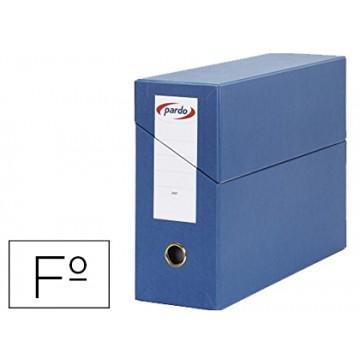 Caixa Transferências Folio Forrado Lombada 80mm 27x39cm Azul