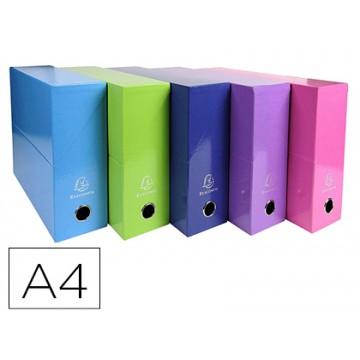 Caixa Transferência A4 90mm pack 5 Cores Sortidas Exacompta