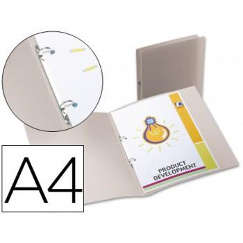 Pasta Arquivo Lombada 17mm A4 PP 2 Anéis Translucida Transparente