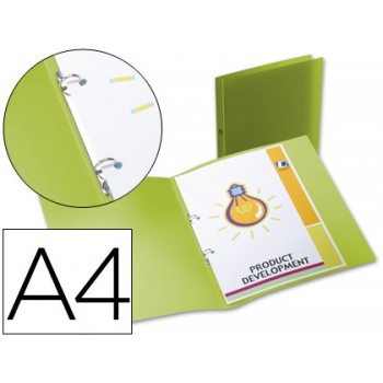 Pasta Arquivo Lombada 17mm A4 PP 2 Anéis Translucida Verde