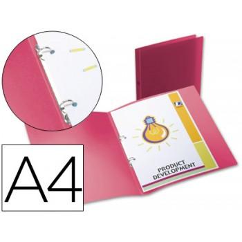 Pasta Arquivo Lombada 17mm A4 PP 2 Anéis Translucida Vermelha
